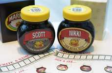 Festively Personalized Spreads - Marmite's Pop-Up Creates Personalized Product Jars for the Holidays