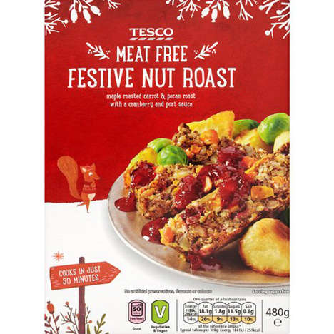 Vegan Nut Roasts - Tesco's Meat-Free Nut Roast is an Option for Vegan Holiday Celebrations