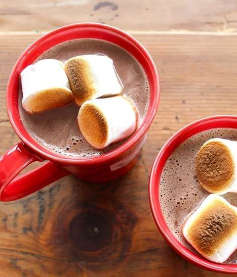 Boozy Hazelnut Hot Chocolates