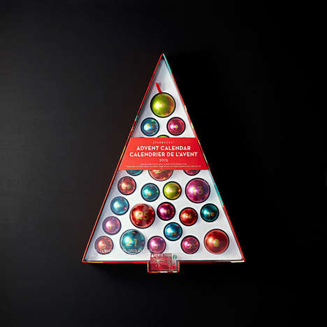 Ornamental Advent Calendars - Starbucks' Chocolate Advent Calendar Provides Instant Decoration