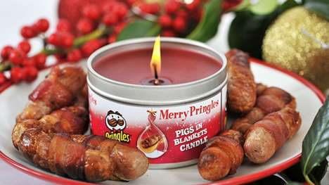 Food-Scented Christmas Candles - These Pringles Candles Smell Like Sizzling Meat and Melted Cheese