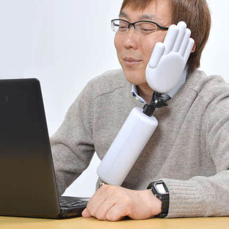 Anti-Slouching Appendages - This Japanese Posture Support Looks Like a Humanoid Plastic Hand