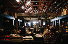 Rustic Retail Interiors - The Filson Flagship Store is Located Inside a Manufacturing Facility