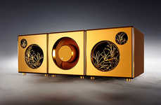 Solid Gold Speakers - Anodic Supply's Luxe Audio Accessory is a Lavish Investment