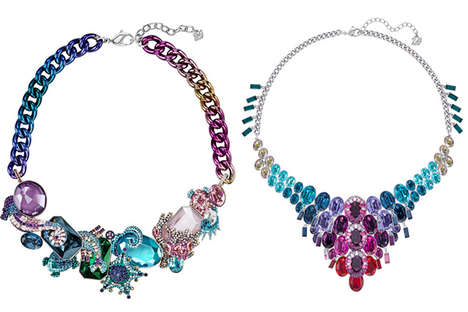 Opulent Crystal Collections - Swarovski's 'Sea of Sparkle' Range Boasts Vibrant Jewelry Pieces