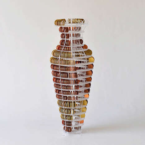 Currency Display Vases