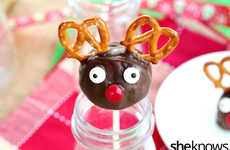 Cookie Reindeer Pops - These Holiday Truffle Cake Pops Recreate Mystical Reindeer Characters