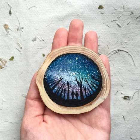Repurposed Tree Paintings
