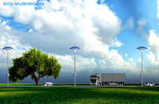 Air Purifying Street Lamps - The Eco Mushroom Air Purification System Illuminates While Cleaning