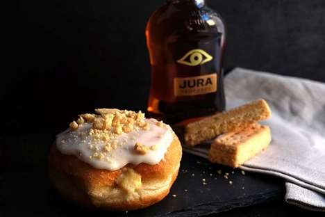 Scotch-Infused Donuts - The Crosstown Cafe Created a Jura Whisky-Filled Bespoke Doughnut