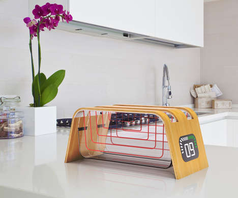 Transparent Bamboo Toasters