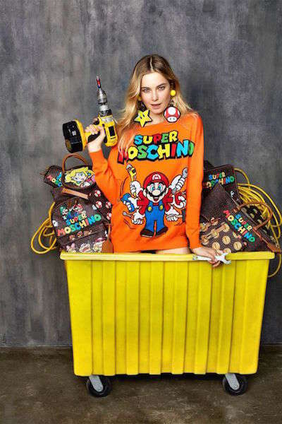 Gaming Character Apparel - Moschino's 'Super Mario Collection' is Colorful and Bizarre