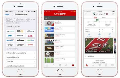 Livestreaming Sports Apps