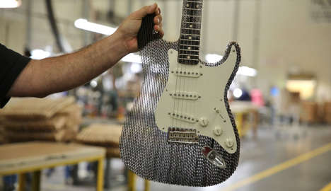 Recyclable Cardboard Guitars