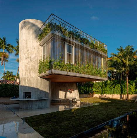 Contemporary Concrete Treehouses