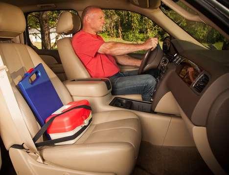 Gear-Holding Seatbelts