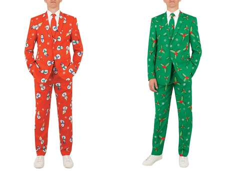 Wrapping Paper-Patterned Suits