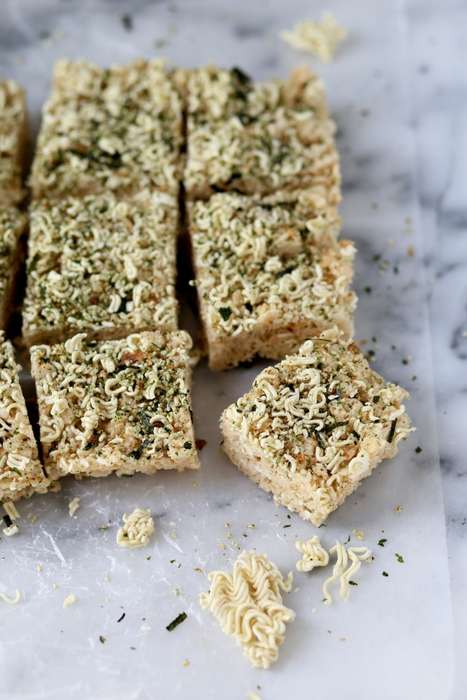 Ramen-Infused Cereal Bars - These Rice Krispie Treats are Made with Instant Ramen Noodles