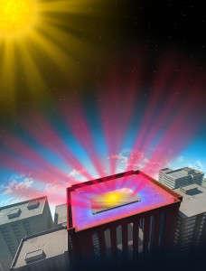 Heat-Deflecting Office Buildings