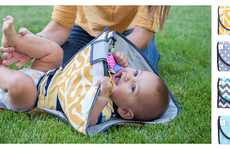 Hygienic Diaper Changing Accessories - The 'SnoofyBee' Clean Hands Changing Pad Keeps Babies Secure