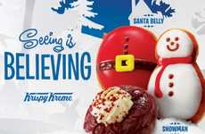Indulgent Holiday Donut Menus - The Krispy Kreme Holiday Menu Features a Number of Festive Donuts
