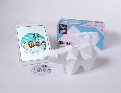 Augmented Reality Piggy Banks - The 'KOGUMA' Piggy Bank Donates to Wildlife Conservation Projects