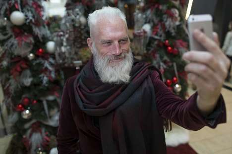 Fashionable Mall Santas - This Holiday Campaign Features a More Stylish Version of Kris Kringle