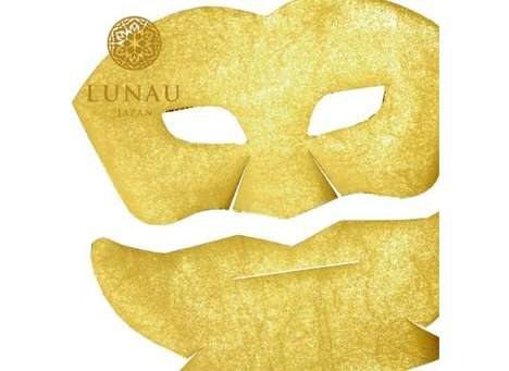 Luxe Gilded Masks - The Lunau Gold Leaf Beauty Treatment Includes Luxurious Precious Metals
