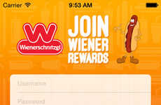 Wiener-Accumulating Apps - The Wienerschnitzel App Rewards You For Wolfing Down Wieners
