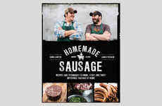 Handcrafted Cured Meat Cookbooks - The Homemade Sausage Publications Instructs How to Make Sausages