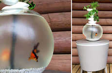 3D-Printed Aquaponic Aquariums - The Cascaqua is a Ecological Plant Grower and Fish Tank Design