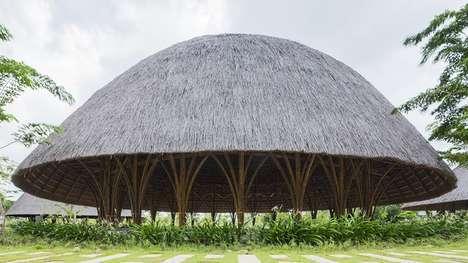 Bulging Bamboo Pavilions