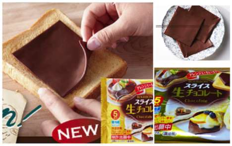 Chocolate Sandwich Slices - This Japanese Food Product Turns Chocolate Into a Deli Meat Replacement