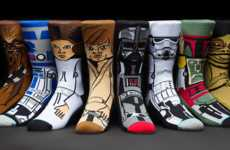 Graphic Sci-Fi Socks