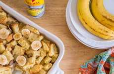 Festive Breakfast Casseroles - This Recipe for Banana Strata is Perfect for Christmas Morning
