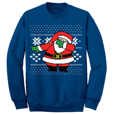 Dancing Santa Sweaters - The 'Dabbing Santa Sweater' Displays St. Nick Doing the Dab
