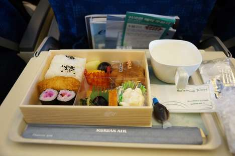 In-Flight Sushi Meals - Korean Airlines Offers Fresh and Authentic Dishes to Travelers