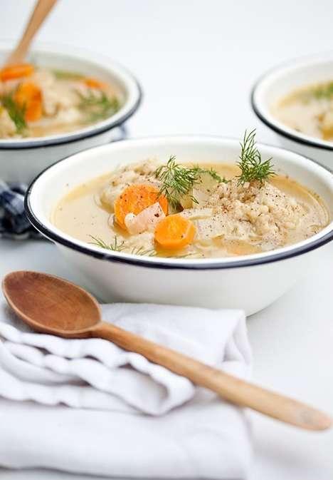 Vegetarian Matzah Ball Soups