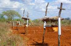 Bee Hive Elephant Fences - This Fence Uses the Bee Stings to Ward Off Crop Raiding Elephants