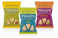 Indian Flatbread Chips - The Maya Kaimal Naan Crisps are Made from Leavened Bread
