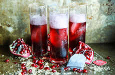 Black Tea Cocktails - This Sparkling Pomegranate Boozy Beverage Features Notes of Currant