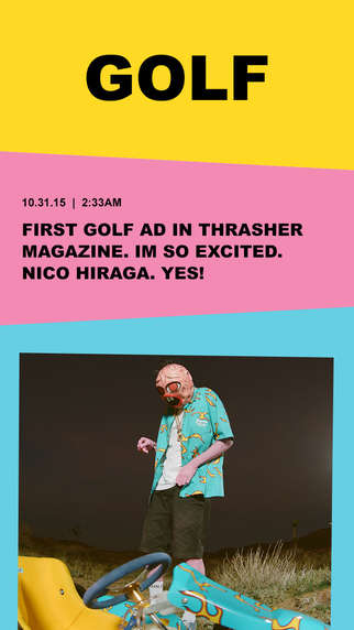 Creative Rapper Platforms - The 'Golf Media' App Provides a Glimpse into Tyler, the Creator's Mind