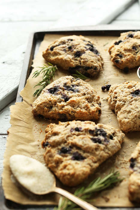 Vegan-Friendly Blueberry Scones