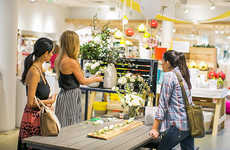 Blogger-Curated Retail Displays - This Blog Collaboration Set Up Stations Inside Crate and Barrel
