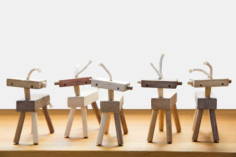 Robotic Toy Horses - The Monroe Workshop Herd of Mini Toy Stallions with a Modular Design