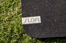 Upcycled Wetsuit Yoga Mats - Suga Keeps Old Wetsuits Out of Landfills by Turning Them into Yoga Mats