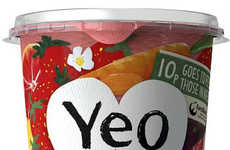 Repurposed Fruit Yogurts - Left-Yeovers' Fruit Yogurt is Made with Produce to Reduce Food Waste