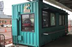 Shipping Container Food Kiosks - This Sustainable Eatery is Housed Inside an Old Shipping Container