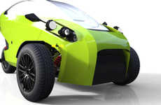 Low-Cost Electric Cars - The 'Soki' Three-Wheeler from VoZo EV is Designed for Millennial Drivers