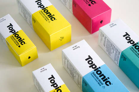 Elemental Medicine Packaging - Esteve's Topionic Packaging References the Periodic Table of Elements